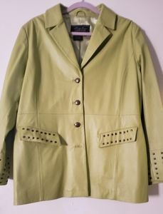 "Terry Lewis ""Stud Accent Jacket"" Sz. 1X Lime"